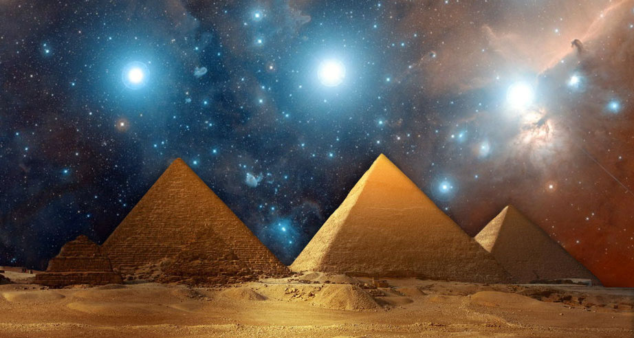 pyramids and orion from law of one
