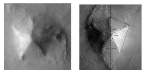 the 5-sided pyramid on Mars